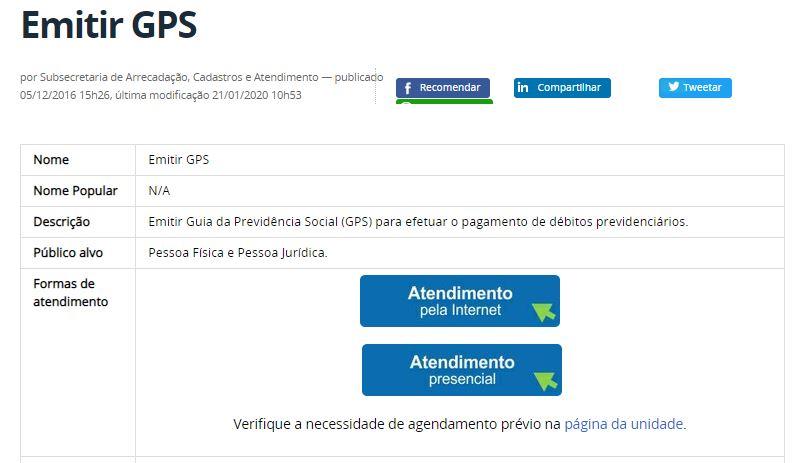 Como Emitir a Guia GPS